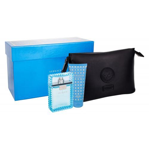 Versace Man Eau Fraiche darčeková kazeta pre mužov Edt 100ml + 100ml sprchový gel + kosmetická taška
