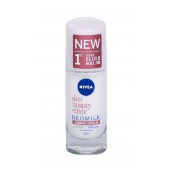 Nivea Deo Beauty Elixir Deomilk Sensitive Roll-on Antiperspirant pre ženy 40 ml