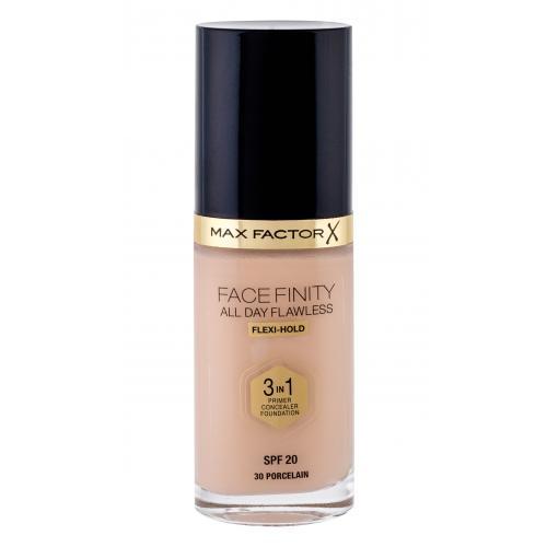 Max Factor Facefinity 3 in 1 SPF20 30 ml tekutý make-up s uv ochranou pre ženy 30 Porcelain