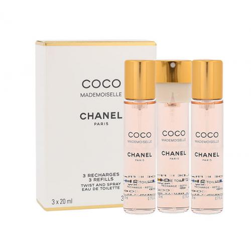 Chanel Coco Mademoiselle 3x20 ml toaletná voda Náplň pre ženy miniatura