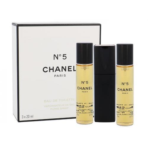 Chanel No.5 3x 20 ml 20 ml toaletná voda Twist and Spray pre ženy