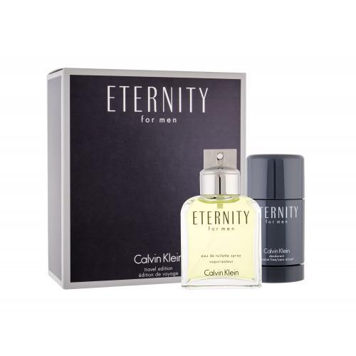 Calvin Klein Eternity For Men darčeková kazeta pre mužov toaletná voda 100 ml + deostick 75 ml
