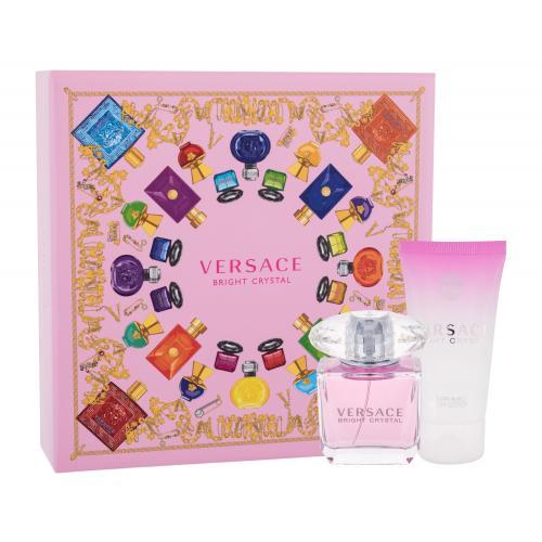 Versace Bright Crystal darčeková kazeta pre ženy toaletná voda 30 ml + telové mlieko 50 ml