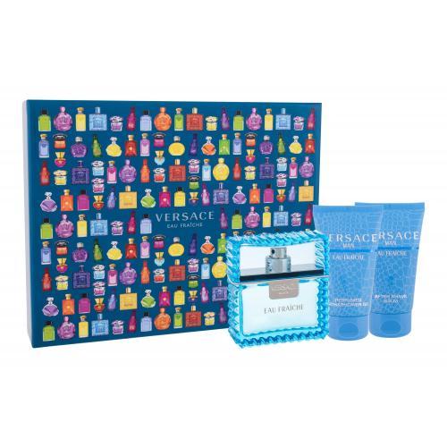Versace Man Eau Fraiche darčeková kazeta pre mužov toaletná voda 50 ml + sprchovací gél 50 ml + balzam po holení 50 ml