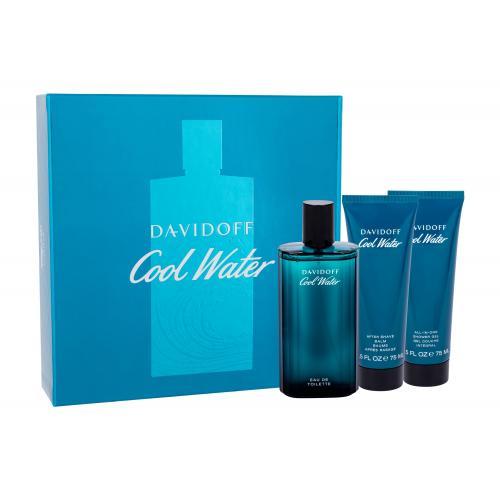 Davidoff Cool Water darčeková kazeta pre mužov toaletná voda 125 ml + balzam po holení 75 ml + sprchovací gél 75 ml