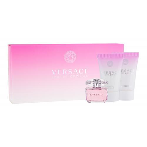Versace Bright Crystal darčeková kazeta pre ženy toaletná voda 5 ml + 25 ml telové mlieko + 25ml sprchovací gél miniatura