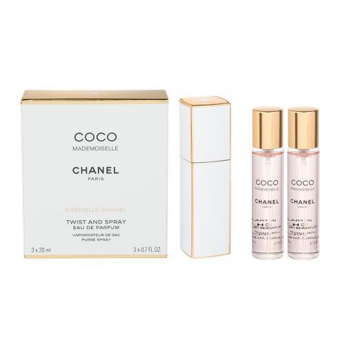 Chanel Coco Mademoiselle 3x20 ml parfumovaná voda Twist and Spray pre ženy miniatura