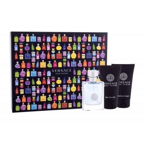 Versace Pour Homme darčeková kazeta pre mužov toaletná voda 50 ml + sprchovací gél 50 ml + balzam po holení 50 ml