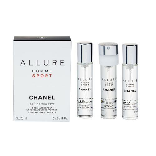 Chanel Allure Homme Sport 3x 20 ml 20 ml toaletná voda Náplň pre mužov