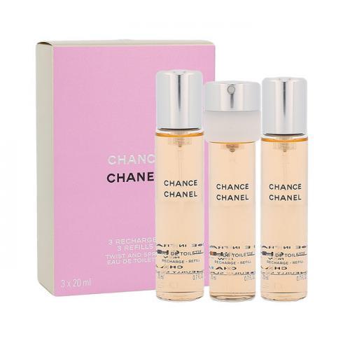 Chanel Chance 3x20 ml toaletná voda Náplň pre ženy miniatura