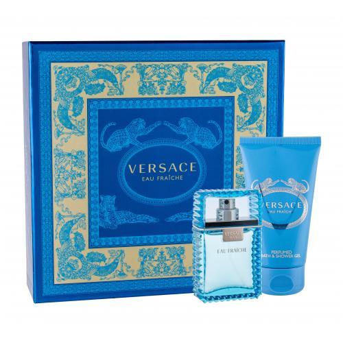 Versace Man Eau Fraiche darčeková kazeta pre mužov toaletná voda 30 ml + sprchovací gél 50 ml