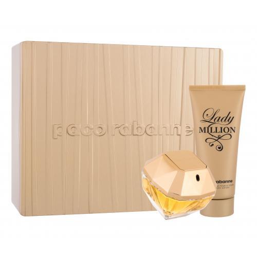 Paco Rabanne Lady Million darčeková kazeta pre ženy parfumovaná voda 80 ml + telové mlieko 100 ml