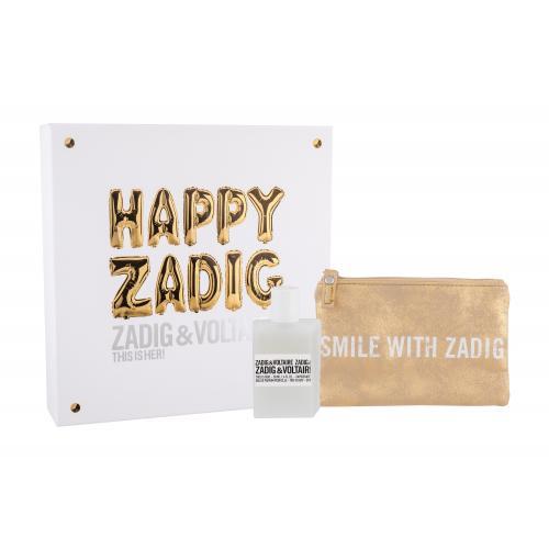 Zadig & Voltaire This is Her! darčeková kazeta pre ženy parfumovaná voda 50 ml + kozmetická taška