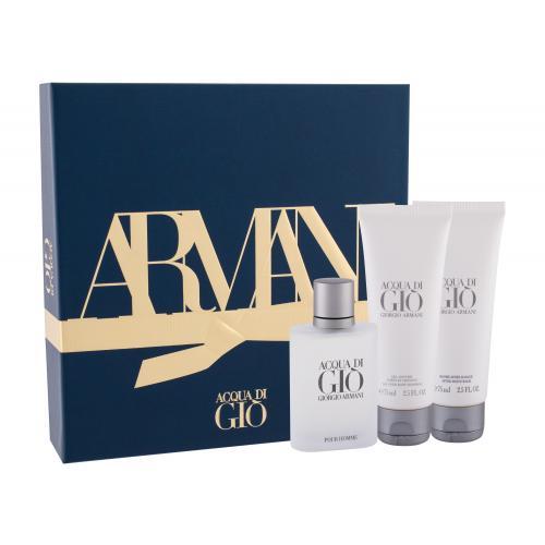 Giorgio Armani Acqua di Giò Pour Homme darčeková kazeta pre mužov toaletná voda 50 ml + balzam po holení 75 ml + sprchovací gél 75 ml