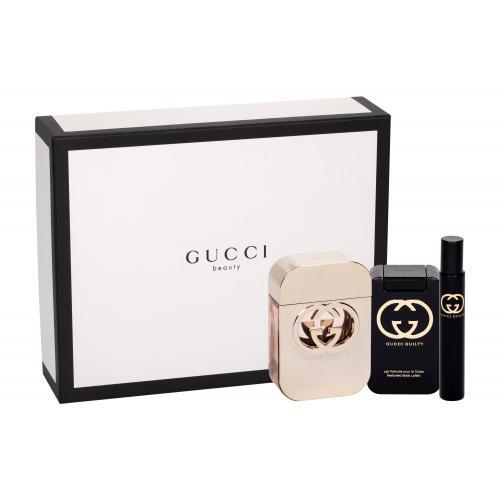 Gucci Gucci Guilty darčeková kazeta pre ženy toaletná voda 75 ml + telové mlieko 100 ml + toaletná voda 7,4 ml