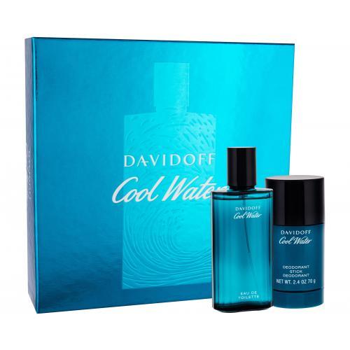 Davidoff Cool Water darčeková kazeta pre mužov toaletná voda 75 ml + deostick 75 ml