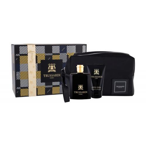 Trussardi Uomo 2011 darčeková kazeta pre mužov toaletná voda 100 ml + sprchovací gél 100 ml + kozmetická taška