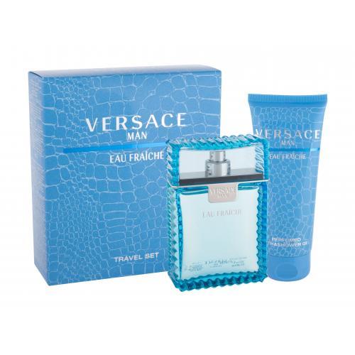 Versace Man Eau Fraiche darčeková kazeta pre mužov toaletná voda 100 ml + sprchovací gél 100 ml