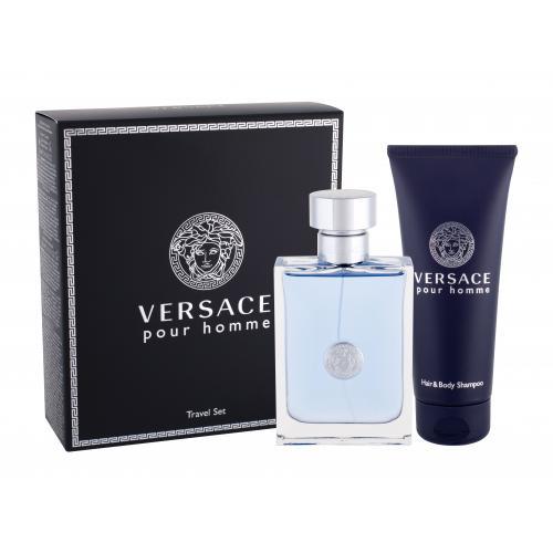 Versace Pour Homme darčeková kazeta pre mužov toaletná voda 100 ml + sprchovací gél 100 ml