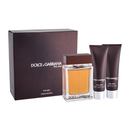Dolce&Gabbana The One For Men darčeková kazeta pre mužov toaletná voda 100 ml + balzam po holení 50 ml + sprchovací gél 50 ml