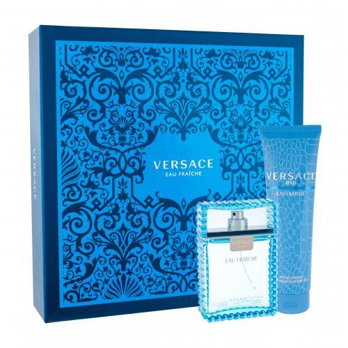 Versace Man Eau Fraiche darčeková kazeta pre mužov Edt 100ml + 150ml sprchový gel