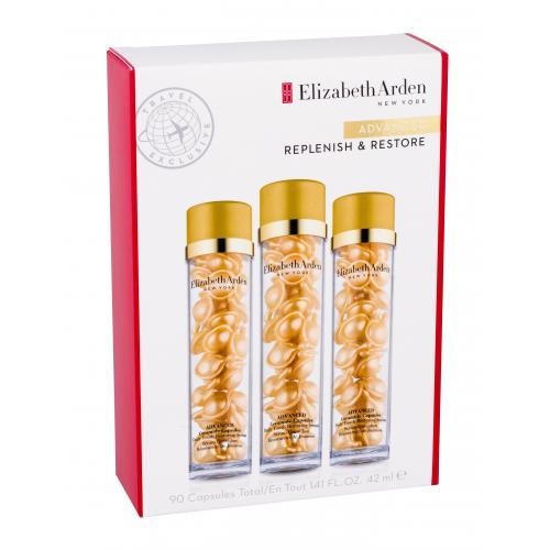 Elizabeth Arden Ceramide Daily Youth Restoring Capsules darčeková kazeta proti vráskam pre ženy pleťové sérum kapsule 3 x 30 ks