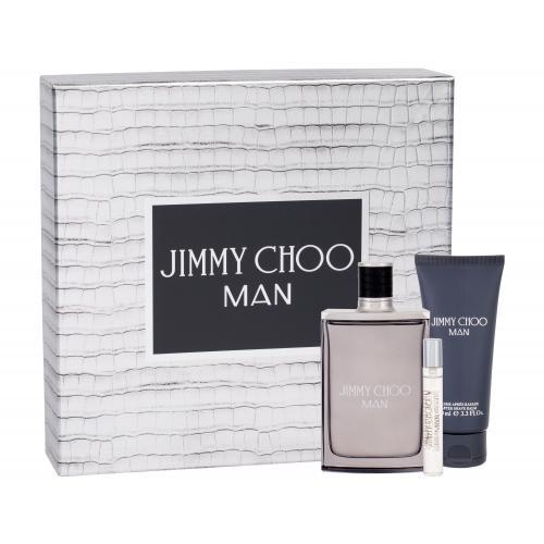Jimmy Choo Jimmy Choo Man darčeková kazeta pre mužov toaletná voda 100 ml + toaletná voda 7,5 ml + balzam po holení 100 ml