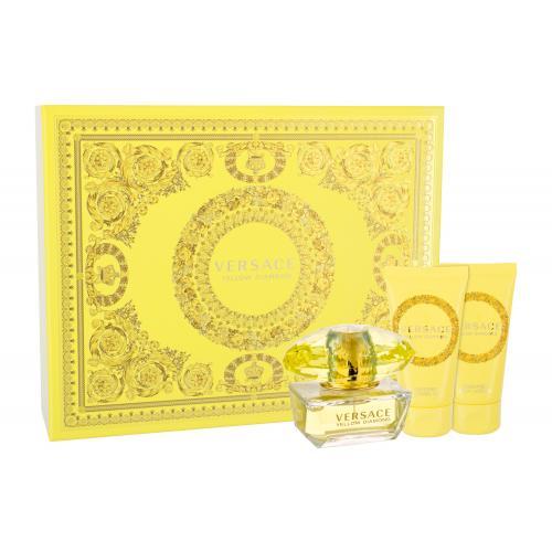 Versace Yellow Diamond darčeková kazeta pre ženy Edt 50ml + 50ml tělové mléko + 50ml sprchový gel
