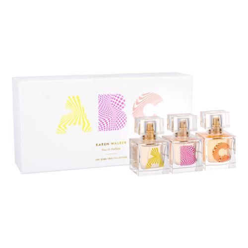 Karen Walker ABC Trio Set darčeková kazeta pre ženy parfumovaná voda A 30 ml + parfumovaná voda B 30 ml + parfumovaná voda C 30 ml miniatura