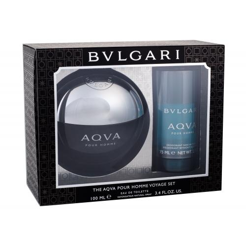 Bvlgari Aqva Pour Homme darčeková kazeta pre mužov toaletná voda 100 ml + deostick 75 ml