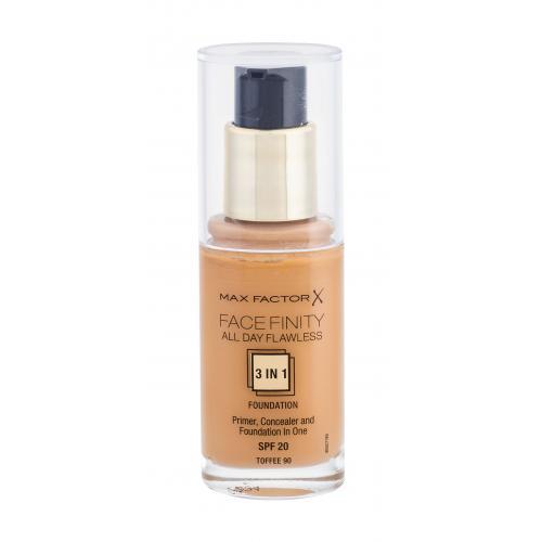Max Factor Facefinity 3 in 1 SPF20 30 ml tekutý make-up s uv ochranou pre ženy 90 Toffee