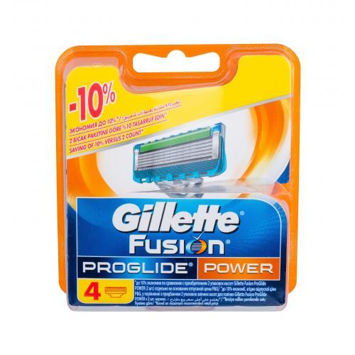 Gillette Fusion Proglide Power 4 ks náhradné ostrie pre mužov