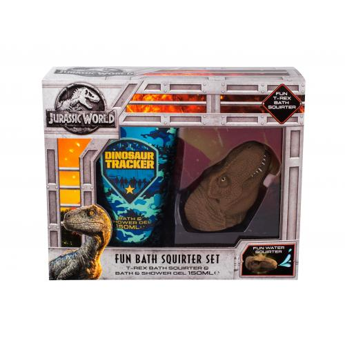 Universal Jurassic World darčeková kazeta pre deti sprchový gél 150 ml + hračka do kúpeľa