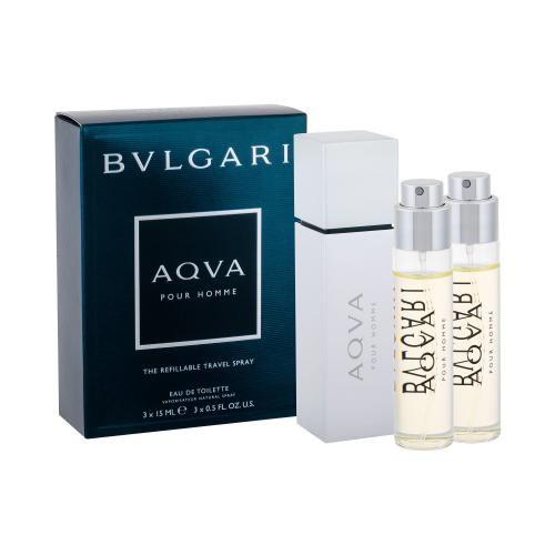 Bvlgari Aqva Pour Homme 3x15 ml toaletná voda pre mužov miniatura