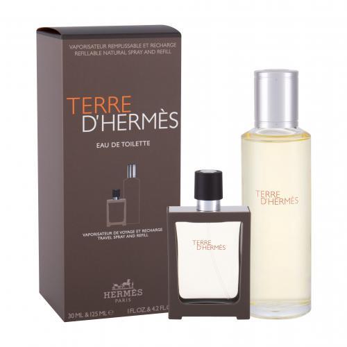 Hermes Terre d´Hermès darčeková kazeta pre mužov toaletná voda 30 ml + toaletná voda náplň 125 ml