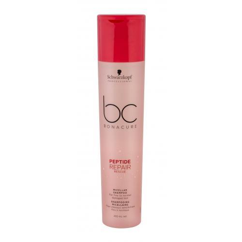 Schwarzkopf Professional BC Bonacure Peptide Repair Rescue 250 ml micelárny šampón pre jemné poškodené vlasy pre ženy