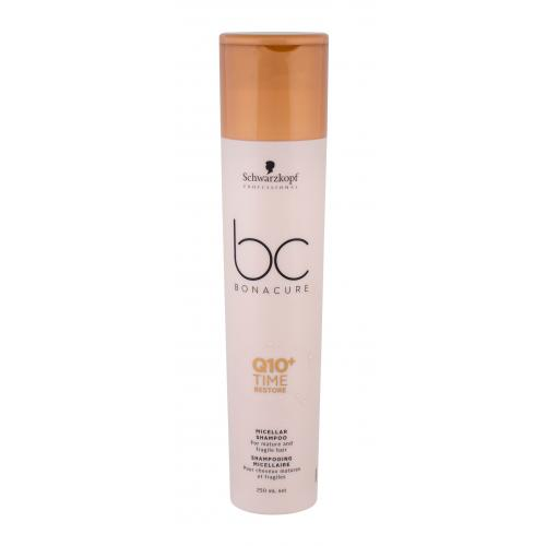 Schwarzkopf Professional BC Bonacure Q10+ Time Restore 250 ml micelárny šampón pre zrelé a suché vlasy pre ženy