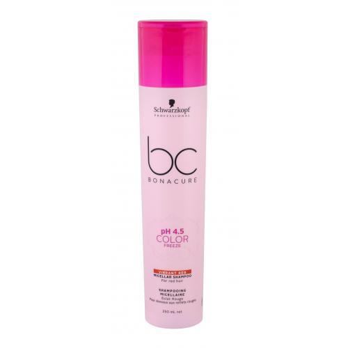 Schwarzkopf Professional BC Bonacure pH 4.5 Color Freeze Vibrant Red 250 ml micelárny šampón pre červené odtiene vlasov pre ženy