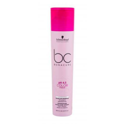 Schwarzkopf Professional BC Bonacure pH 4.5 Color Freeze Silver 250 ml micelárny šampón pre elimináciu žltých tónov pre ženy