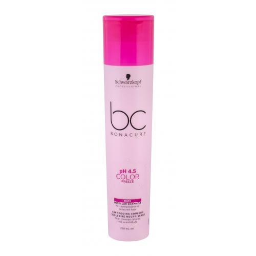 Schwarzkopf Professional BC Bonacure pH 4.5 Color Freeze Rich 250 ml bohatý micelárny šampón pre farbené vlasy pre ženy