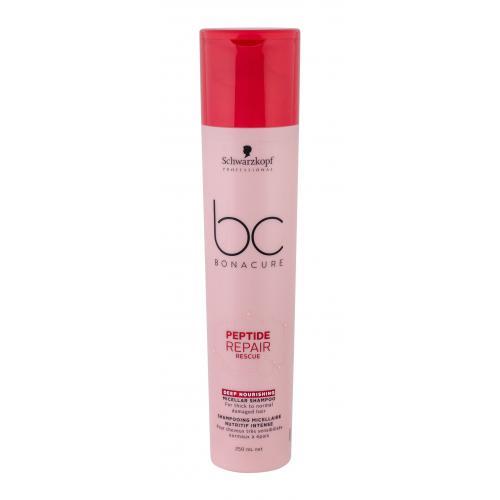 Schwarzkopf Professional BC Bonacure Peptide Repair Rescue 250 ml micelárny šampón pre silné poškodené vlasy pre ženy