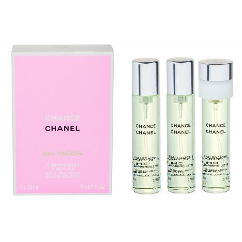 Chanel Chance Eau Fraîche 3x20 ml toaletná voda Náplň pre ženy miniatura