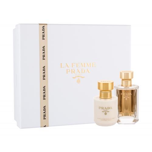 Prada La Femme darčeková kazeta pre ženy parfumovaná voda 50 ml + telové mlieko 100 ml