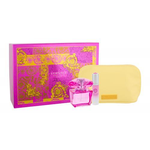 Versace Bright Crystal Absolu darčeková kazeta pre ženy parfumovaná voda 90 ml + parfumovaná voda 10 ml + kozmetická taška