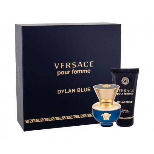 Versace Pour Femme Dylan Blue darčeková kazeta pre ženy parfumovaná voda 30 ml + telové mlieko 50 ml