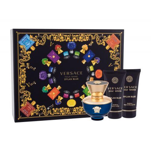 Versace Pour Femme Dylan Blue darčeková kazeta pre ženy parfumovaná voda 50 ml + telové mlieko 50 ml + sprchovací gél 50 ml