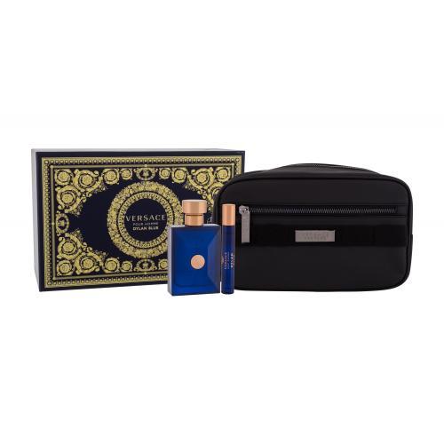 Versace Pour Homme Dylan Blue darčeková kazeta pre mužov toaletná voda 100 ml + toaletná voda 10 ml + kozmetická taška