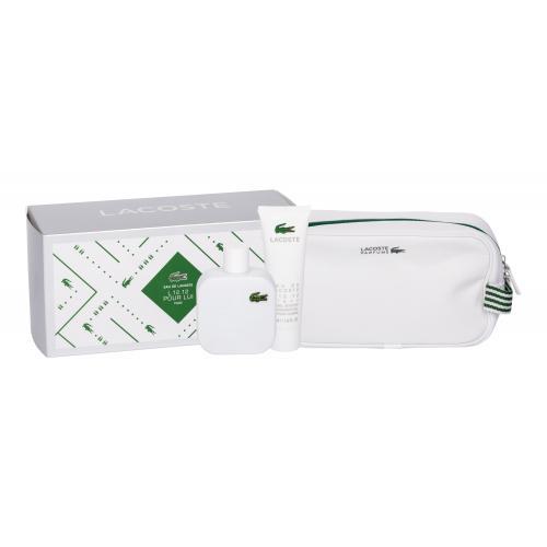 Lacoste Eau de Lacoste L.12.12 Blanc darčeková kazeta pre mužov toaletná voda 100 ml + sprchovací gél 50 ml + kozmetická taška