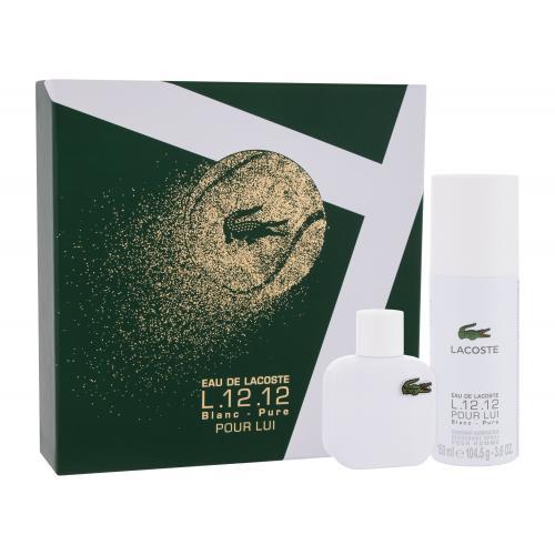 Lacoste Eau de Lacoste L.12.12 Blanc darčeková kazeta pre mužov toaletná voda 50 ml + deodorant 150 ml