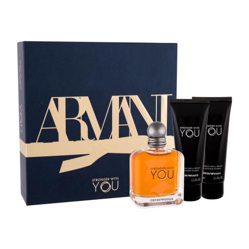 Giorgio Armani Emporio Armani Stronger With You darčeková kazeta pre mužov toaletná voda 100 ml + sprchovací gél 2x 75 ml
